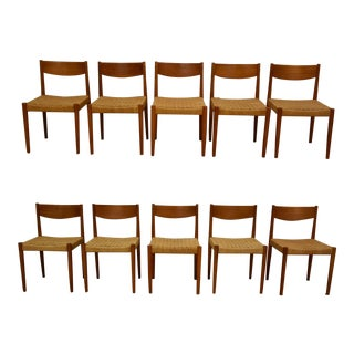 Poul Volther Teak Dining Chairs - Set of 10