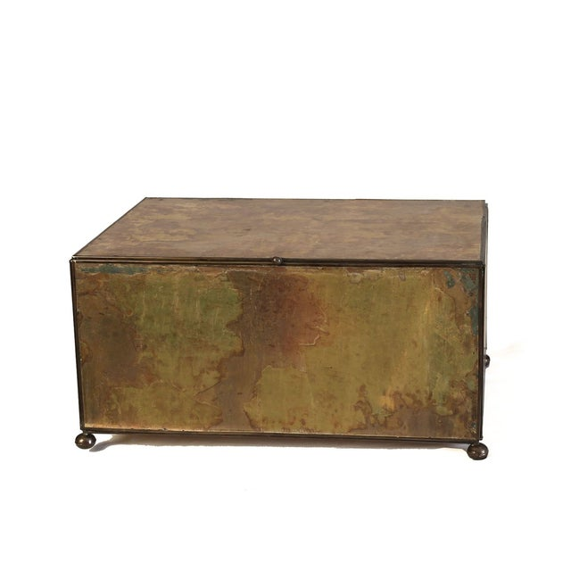 Image of Medium Antiqued Mirror Decorative Box