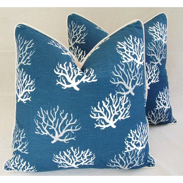 Custom Ocean & Beach Coral Branch Pillows - A Pair - Image 2 of 10