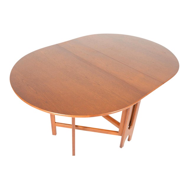 mid century drop leaf oval jentique dining table chairish