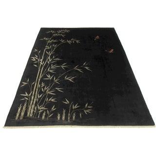 RugsinDallas Black Chinese Art Deco Rug - 8′10″ × 11′4″