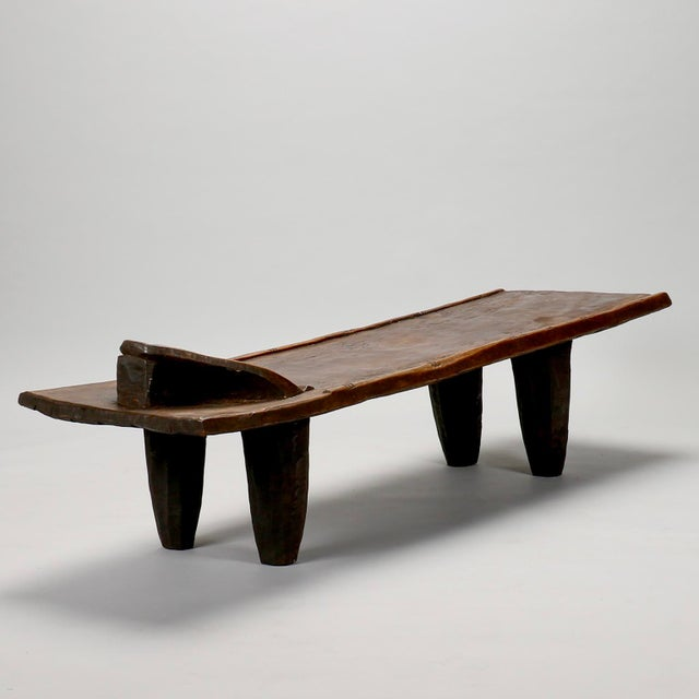 Ivory Coast Dark Wood Senufo Bench - Image 2 of 11