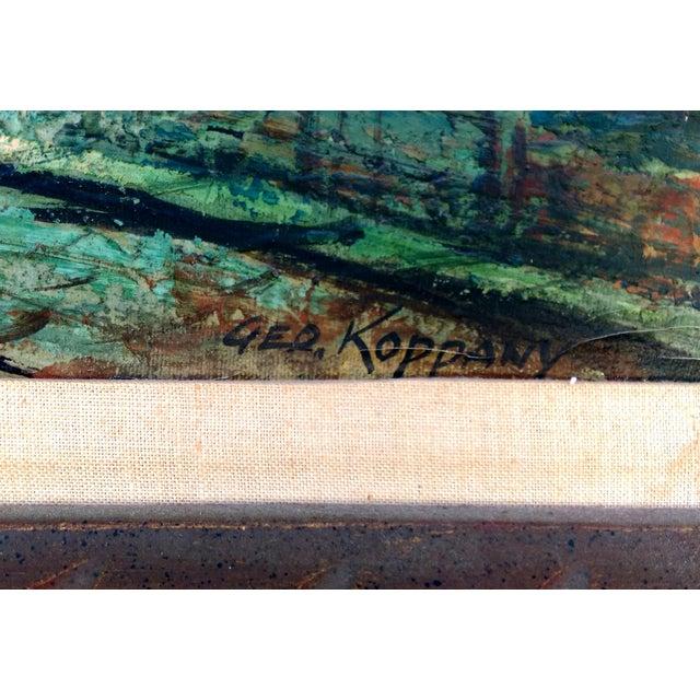 Rustic Street Scene Painting by Geo Koppany - Image 3 of 9