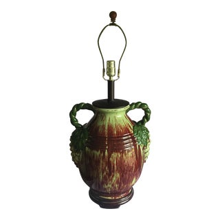 Vintage Italian Pottery Grape Lamp