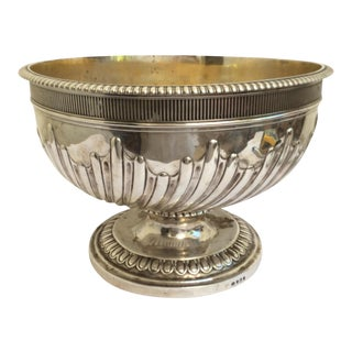 Antique English Sterling Silver Punch Bowl