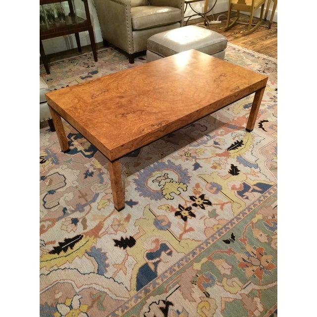 Baker Burlwood Modern Coffee Table - Image 2 of 7