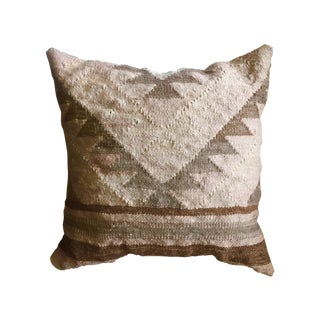 Antique Pink & Brown Kilim Pillow