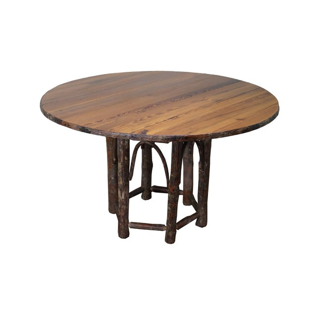 Old Hickory Rustic Tree Form, Round Dining Table - Image 1 of 10