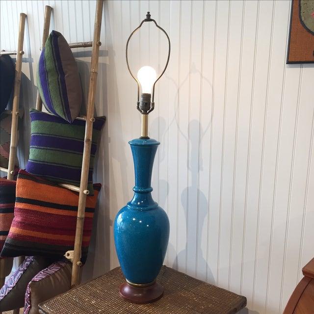 Frederick Cooper Cerulean Blue Crackle Lamp - Image 5 of 11