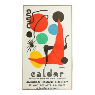 1973 Alexander Calder Exhibition Poster