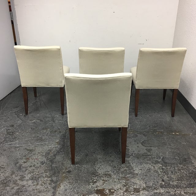 Room & Board Marie White Dining Chairs - Set of 4 - Image 4 of 8