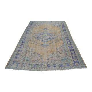 Handmade Turkish Anatolian Vintage Wool Rug - 6′1″ × 9′3″