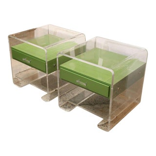 Pair of Lucite Side Tables