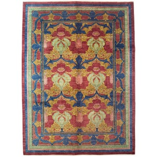 """Arts & Crafts Hand Knotted Area Rug - 9'1"""" X 12'1"""""""