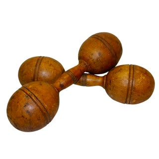 Victorian Wood Hand Weights- A Pair