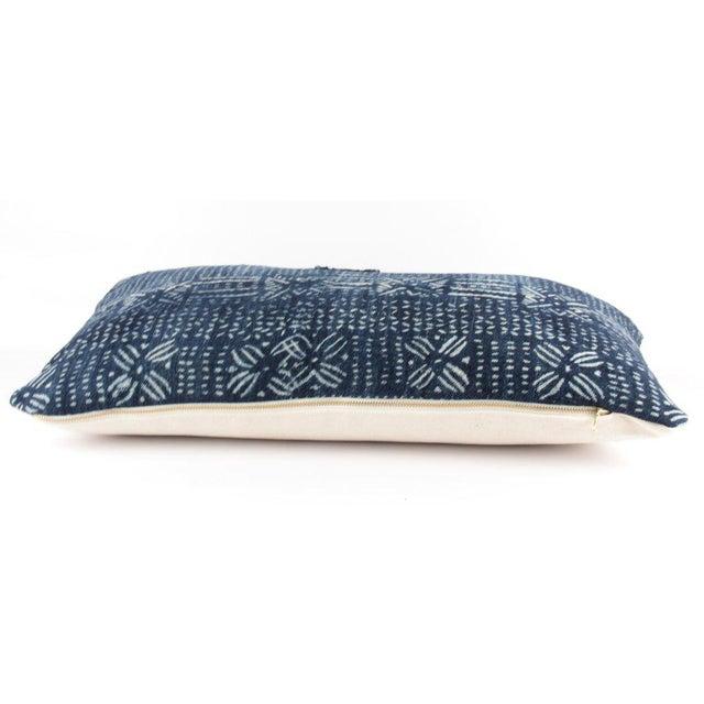 Botanical Blue Mudcloth Pillow - Image 3 of 4