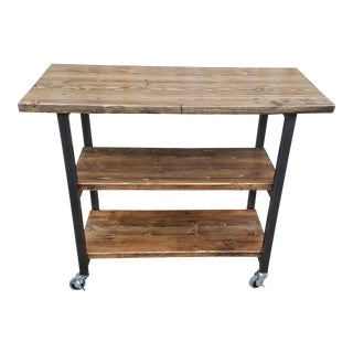 Rustic Reclaimed Wood Kitchen Island