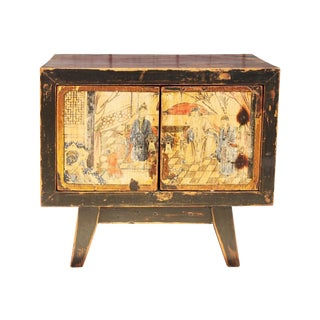 Chinese Painted Side Chest 1940's
