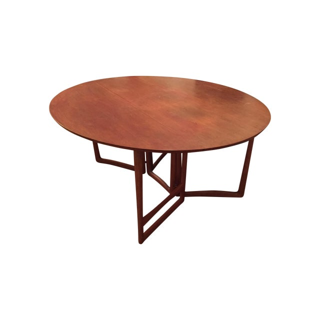 Image of Solid Cherry Oval Drop Leaf Dining Table