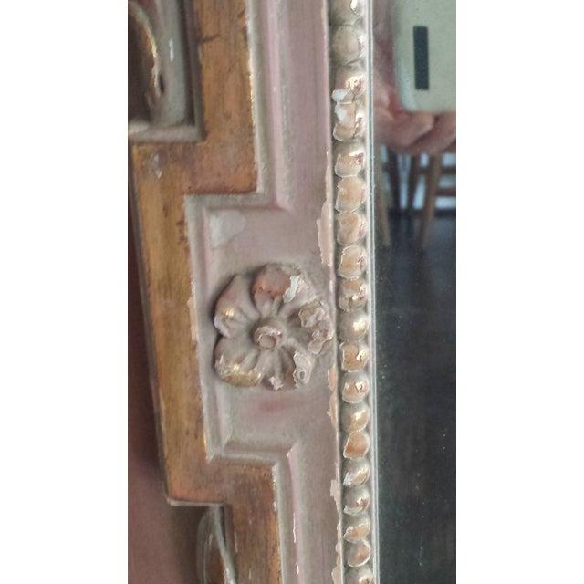 Vintage Painted Parcel Gilt Trumeau Mirror - Image 3 of 6