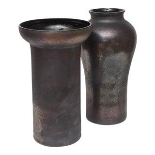 Oversized Scavo Glass Vases