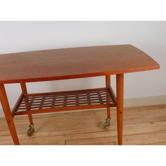 Vintage Danish Modern Teak Bar Cart - Image 3 of 5