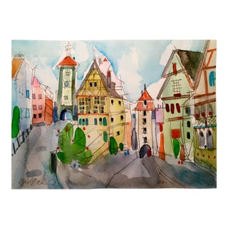 German Village Watercolor