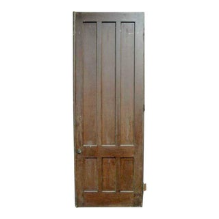 Pine Interior Dark Tone Wood Antique Door