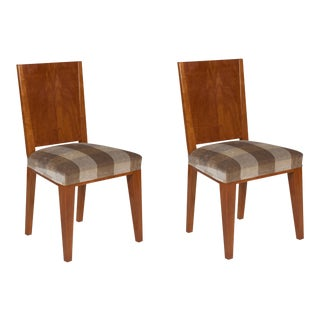 Pair of Jean Michel Frank Style Side Chairs, French, 1930s