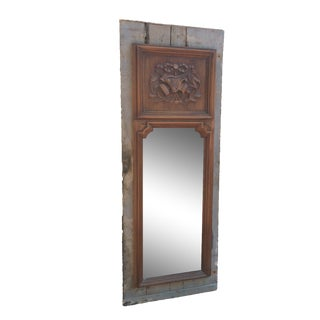 Antique French Wood Mirror