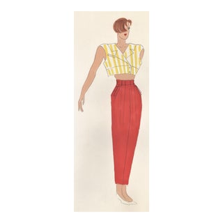 Original Fashion Drawing-1980s