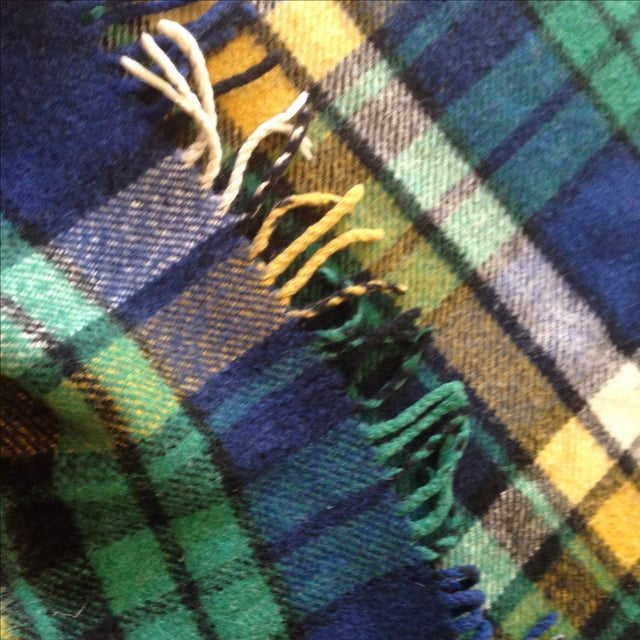 Plaid Wool Tailgate/Picnic Blanket - Image 5 of 11