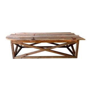 Vintage Barn Door Coffee Table