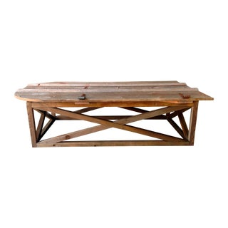 Vintage Barn Door Coffee Table