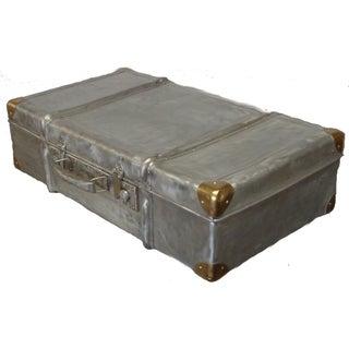 1950 Vintage Aluminum Suitcase Trunk
