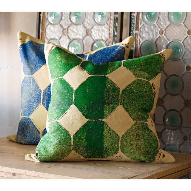 Green Octagon Throw Pillow - Image 4 of 4