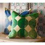Image of Green Octagon Throw Pillow