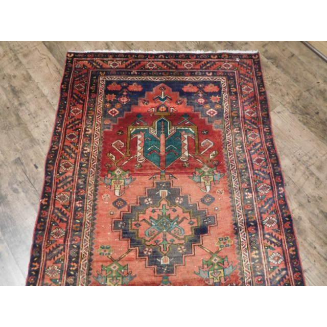 Antique Persian Karaja Runner - 3′7″ × 14′ - Image 10 of 10