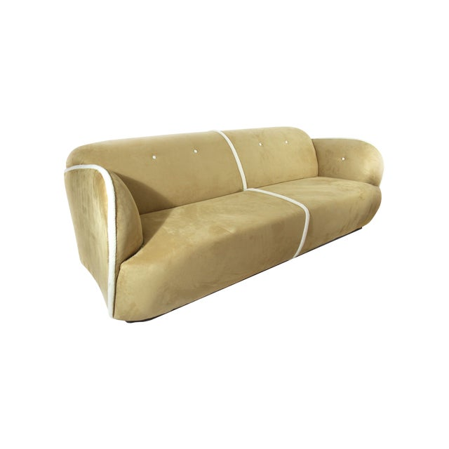 Image of Houston Upholstered Sofa in Amber