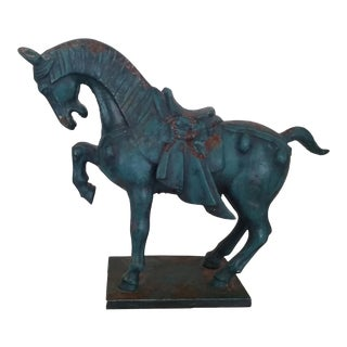 Vintage Tang Dynasty Cast Iron Horse Figurine