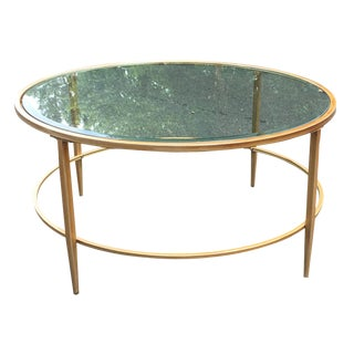 Glass and Metal Coffee Table