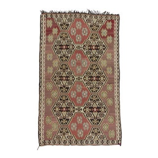 Handwoven Decorative Vintage Turkish Kilim Rug
