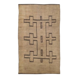 Rustic African Tuareg Woven Rug - 11′4″ × 19′