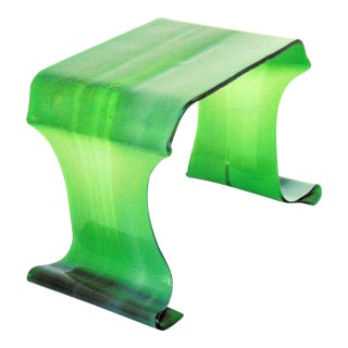 Green Hand Blown Art Glass Stand