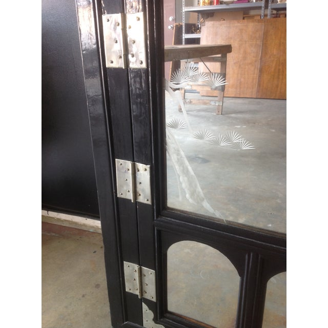 Black Lacquer Chinoiserie Cabinet - Image 6 of 10