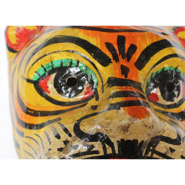 Paper Mache Tiger Mask - Image 3 of 4