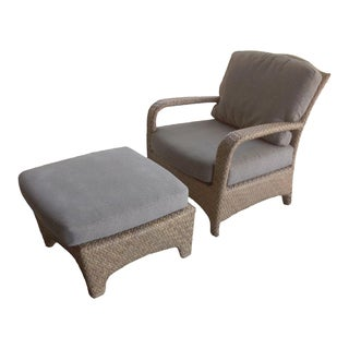Brown Jordan Havana Outdoor Lounge Chair & Ottoman