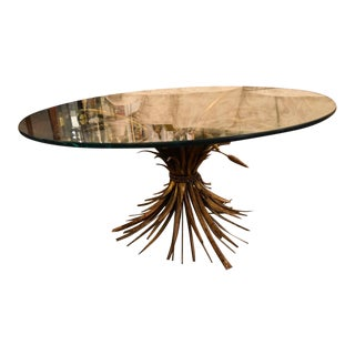 Gilt Sheaf of Wheat Coffee Table