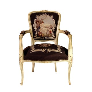 Antique French Louis XV Needlepoint Chair