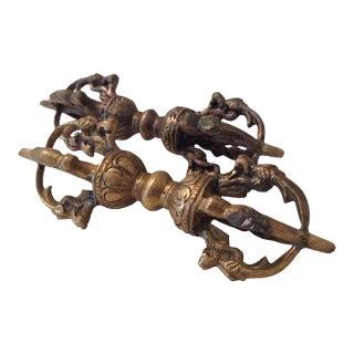 Brass Cambodian Decor - A Pair